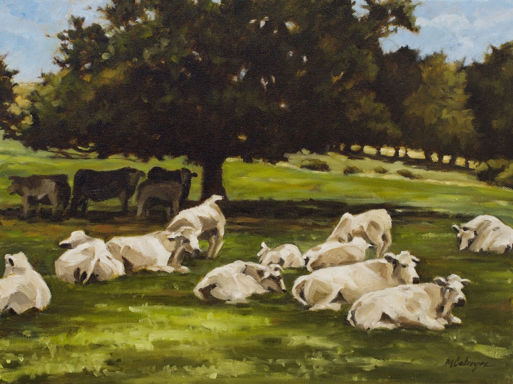 #oilpainting#impressionism#cowpainting#pastoralpainting#france#artist#painting